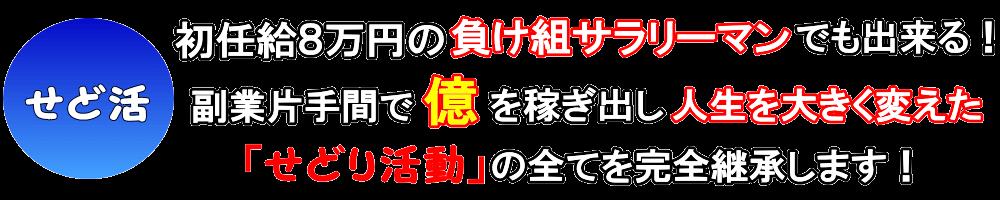 初任給8万円のサラリーマンでも出来る!せどり・転売副業起業術!