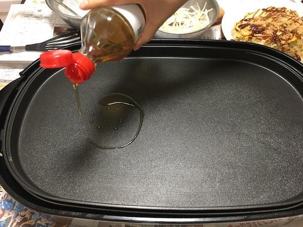 広島風お好み焼きの焼き方
