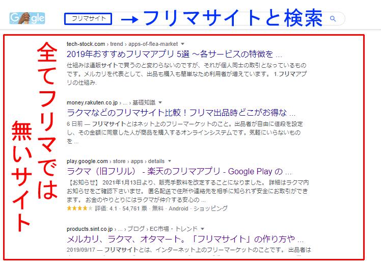 【注意】フリマサイトではないサイト